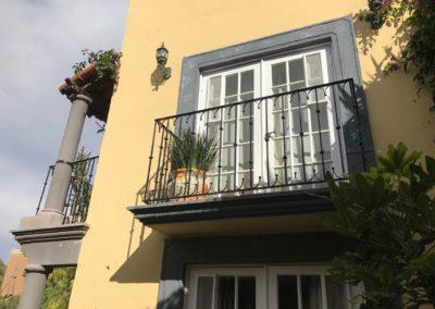 San Miguel has many balconies